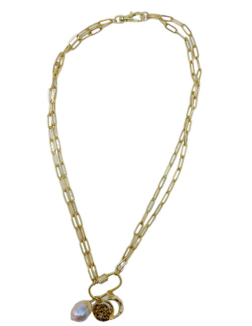 Short Gold Charm Necklace