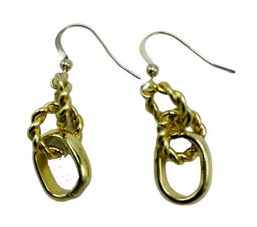 Chunky Gold Chain Earrings