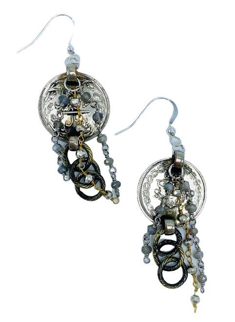 Vintage Belly Dancing Coin Earrings
