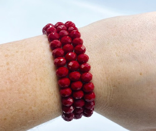 Red Crystal Bracelet Bundle