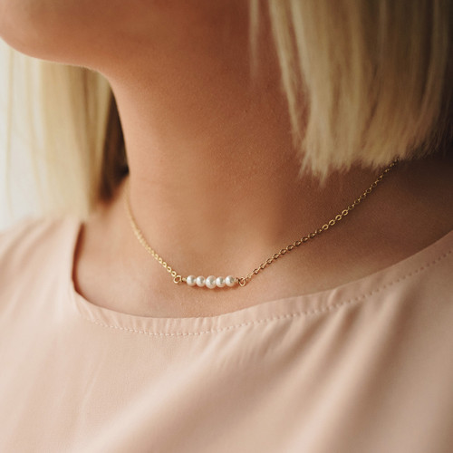 Mother of Pearl Gold Necklace