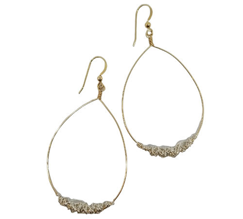 Gold Signature with Silver Wrapped Earrings