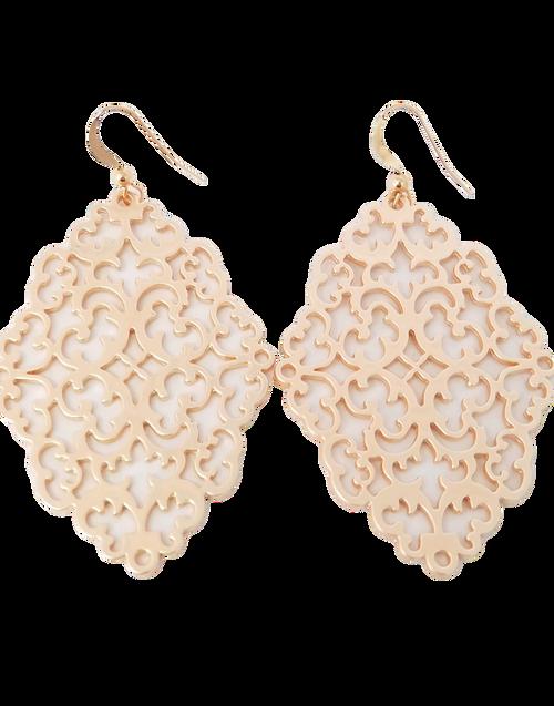 Filigree Matte Rose Gold Earrings