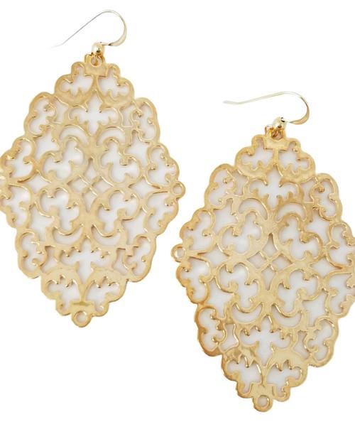 Filigree Shiny Gold Earrings
