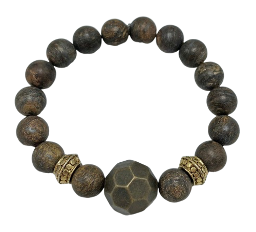 Bronzite and Bronze Unisex Bracelet