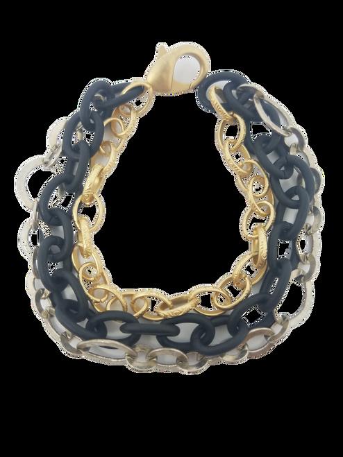 Mixed Metal 3 Strand Bracelet II