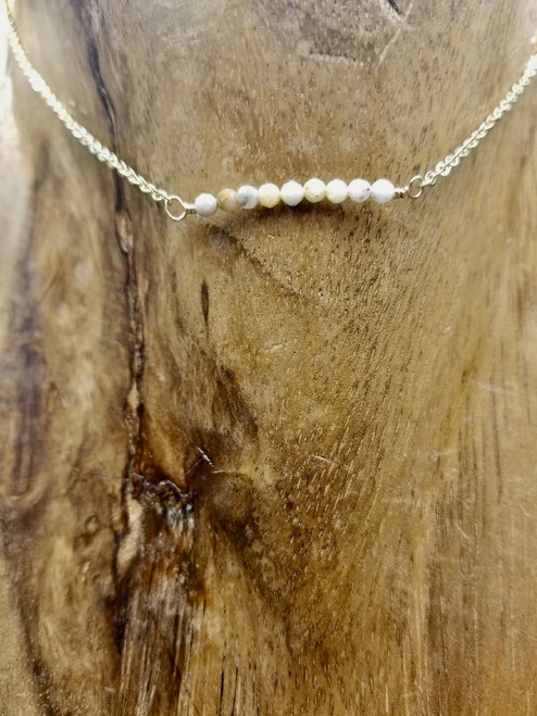 Delicate Pink Opal Necklace