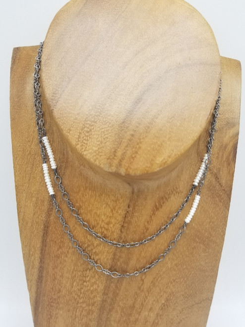 Long Chain and Freshwater Pearl Necklace