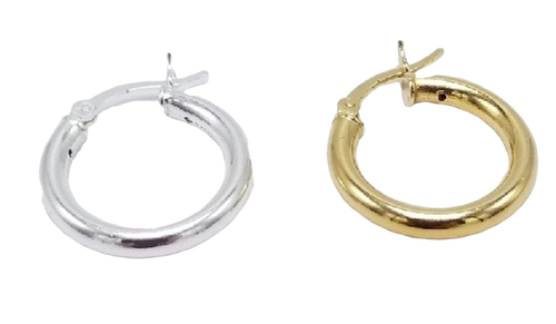 20mm Vermeil or Sterling Silver Hoop Earrings