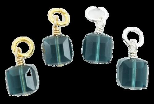 London Blue Swarovski Crystal Charms