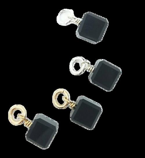 Black Crystal Charms