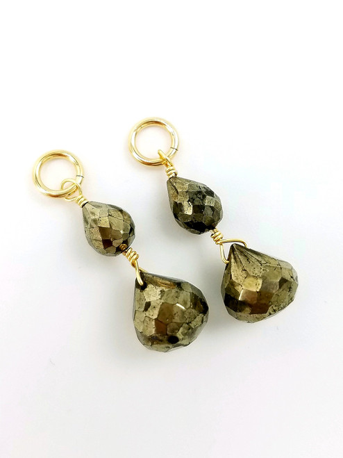 Gold Pyrite Charms