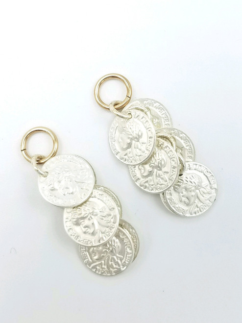 Silver Coin Dangle Charms