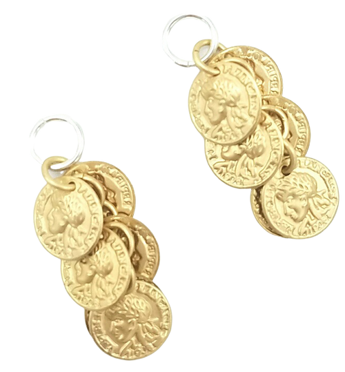 Gold Coin Dangle Charms