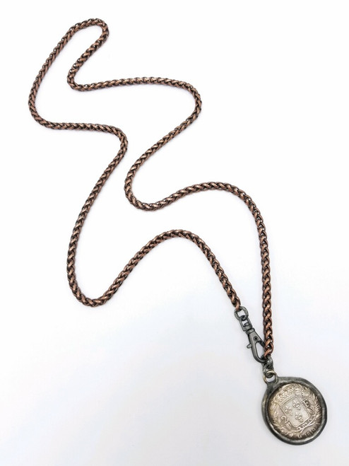 Copper Chain with French Coin Necklace 2