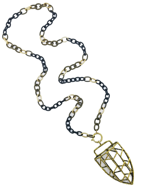 Mixed Chain with Tibetan Pendant