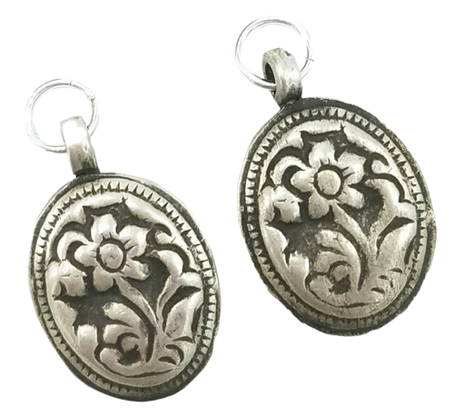 Silver Flower Charms