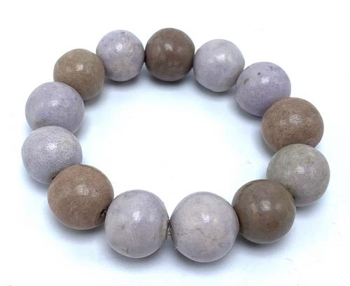 Vintage Wooden Beads on Stretch Bracelet
