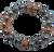 Silver and Copper Lava Bead Bracelet