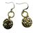 CZ Disc and Gold Circle Earrings