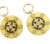 Gold and Black Cross CZ Charms