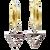 Silver CZ Triangle Charms
