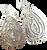 Large Silver Swirl Earrings
