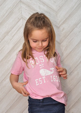 Kids Whale T-Shirt in Pink