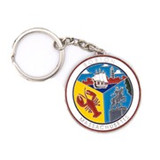 BOSTON COLLAGE KEY CHAIN