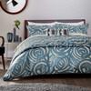Harlequin Vortex Swirl Bedding In Indigo