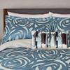 Harlequin Vortex Swirl Duvet Cover In Indigo