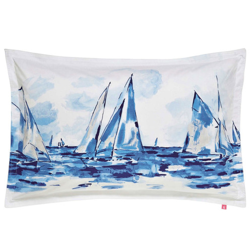 Joules Sailing Boats Oxford Pillowcase Blue