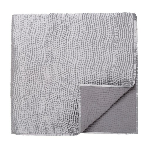 Fable Beaumont Riviera Quilted Throw, Silver