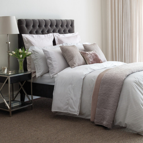Fable Darcy Stripe Duvet Cover in Silver