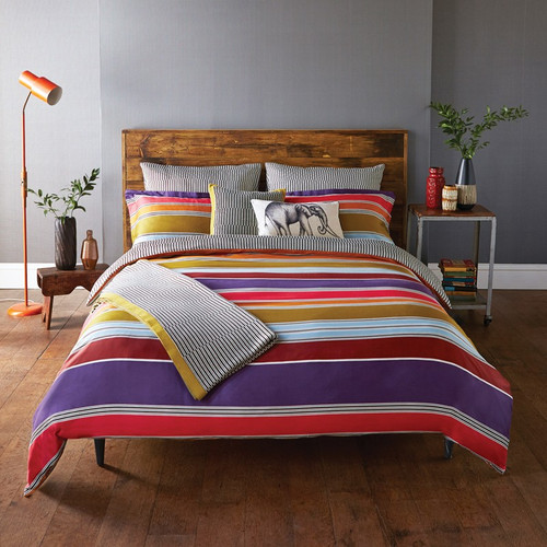 Harlequin Kaledio Multi-Coloured Striped Bedding