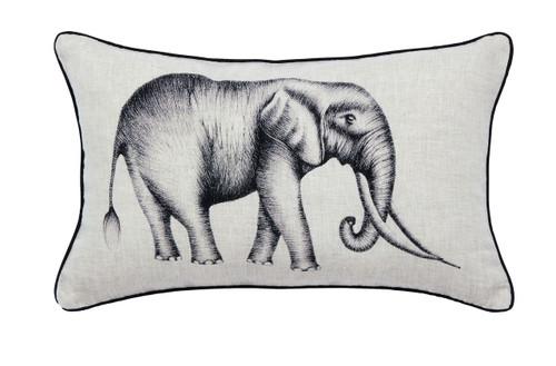Harlequin Kaledio Elephant Cushion, Linen
