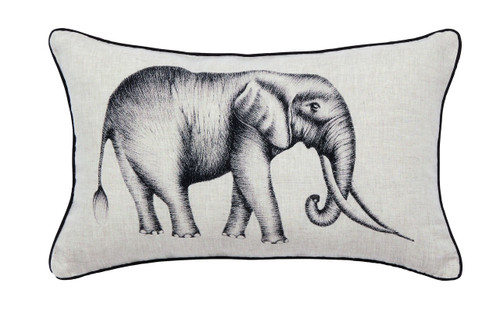 Harlequin Kaledio Elephant Cushion, Linen