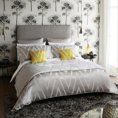 Harlequin Moriko Bedding in Grey & Ivory