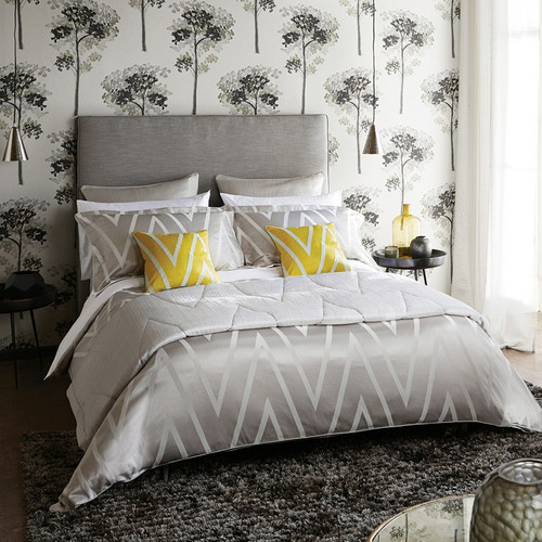 Harlequin Moriko Duvet Cover in Grey & Ivory