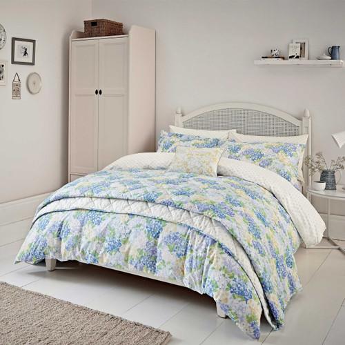 Sanderson Cottage Garden Floral Bedding In Blue