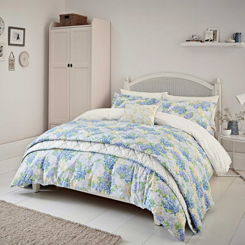 Sanderson Cottage Garden Floral Bedding In Blue