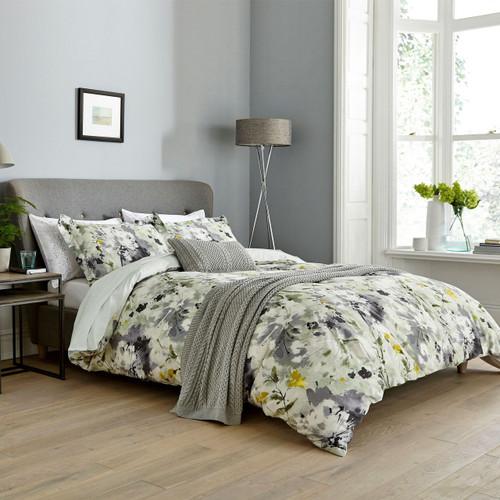 Sanderson Simi Floral Bedding in Grey