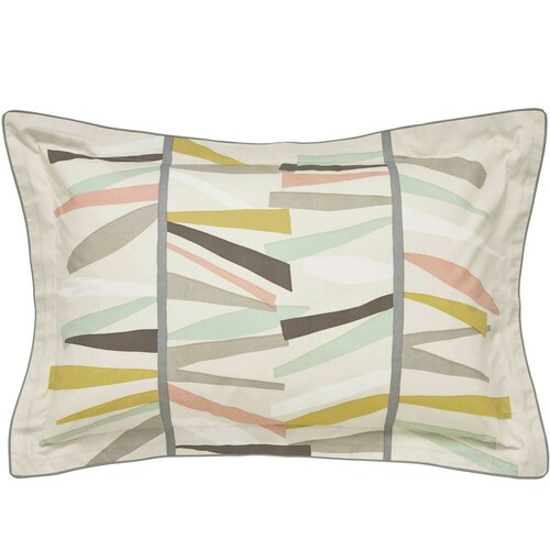 Scion Tetra Oxford Pillowcase, Hessian And Mint