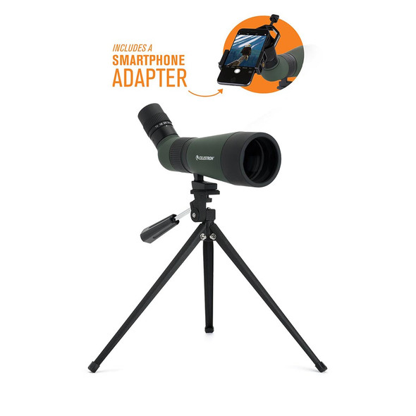 Celestron LandScout 12-36x60mm Spotting Scope with Basic Smartphone Adapter (52422) 1
