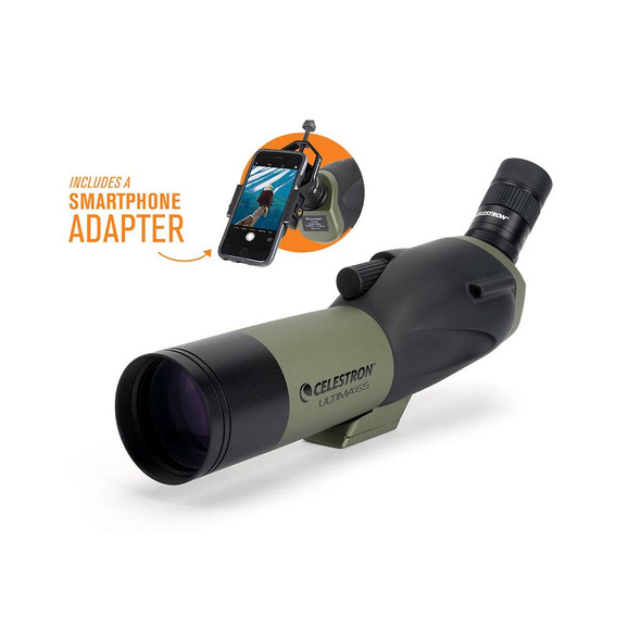 Celestron Ultima 65 - 45 Degree Spotting Scope with Smartphone Adapter (52348) 1