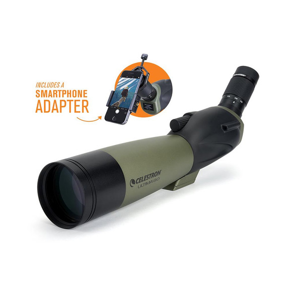 Celestron Ultima 80 - 45 Degree Spotting Scope with Smartphone Adapter (52350) 1