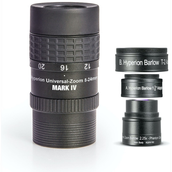 Baader Hyperion Universal Zoom Mark IV w/ 2.25x Barlow 8-24mm/3.6-10.7mm-1