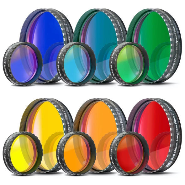 Baader Individual Color Filter - Dark Blue, Bright Blue, Green, Yellow, Red, Orange-1