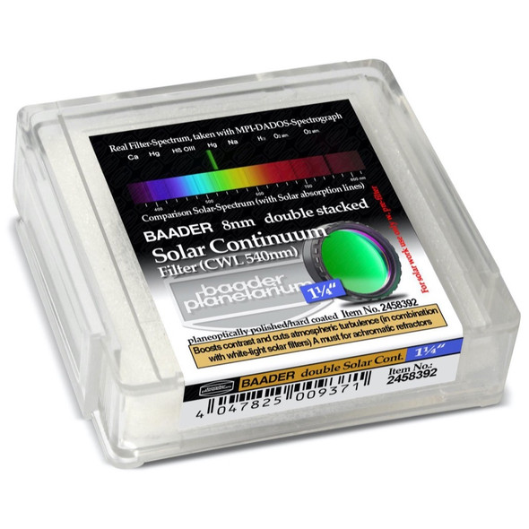 """Baader Solar Continuum Double Stacked Filter - 1.25""""-2"""