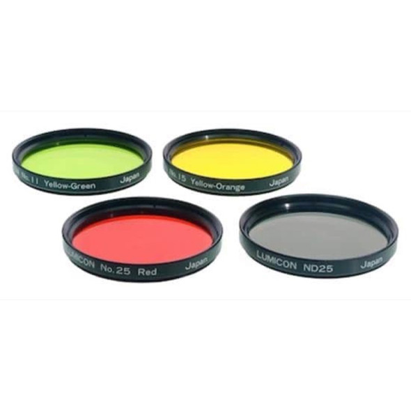 """Lumicon Color Filter Set - #11 Yellow-Green, #15 Deep Yellow, #25 Red, ND25 2""""-1"""